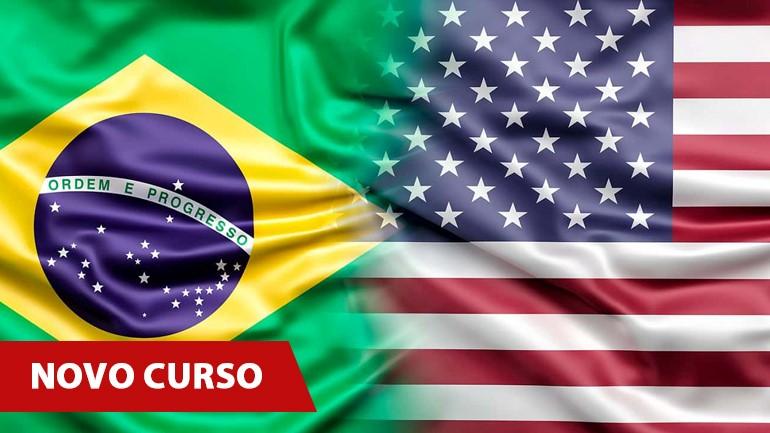 Bandeira Brasil e EUA